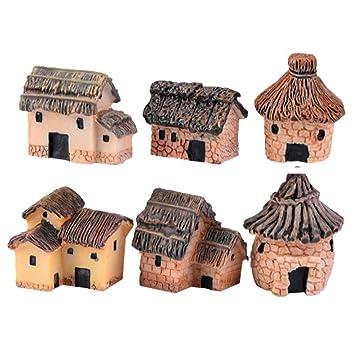 Amazon Com 6 Pcs Random Style Mini Figurines Potted Plants Micro