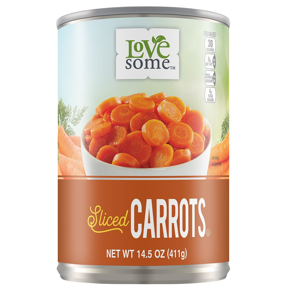 Lovesome Sliced Carrots, 14.5 Ounce (Pack of 24) by Lovesome