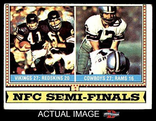 1974 Topps # 461 NFC Semi-Finals Cowboys / Vikings (Football Card) Dean's Cards 4 - VG/EX Cowboys / Vikings (1974 Topps Football)
