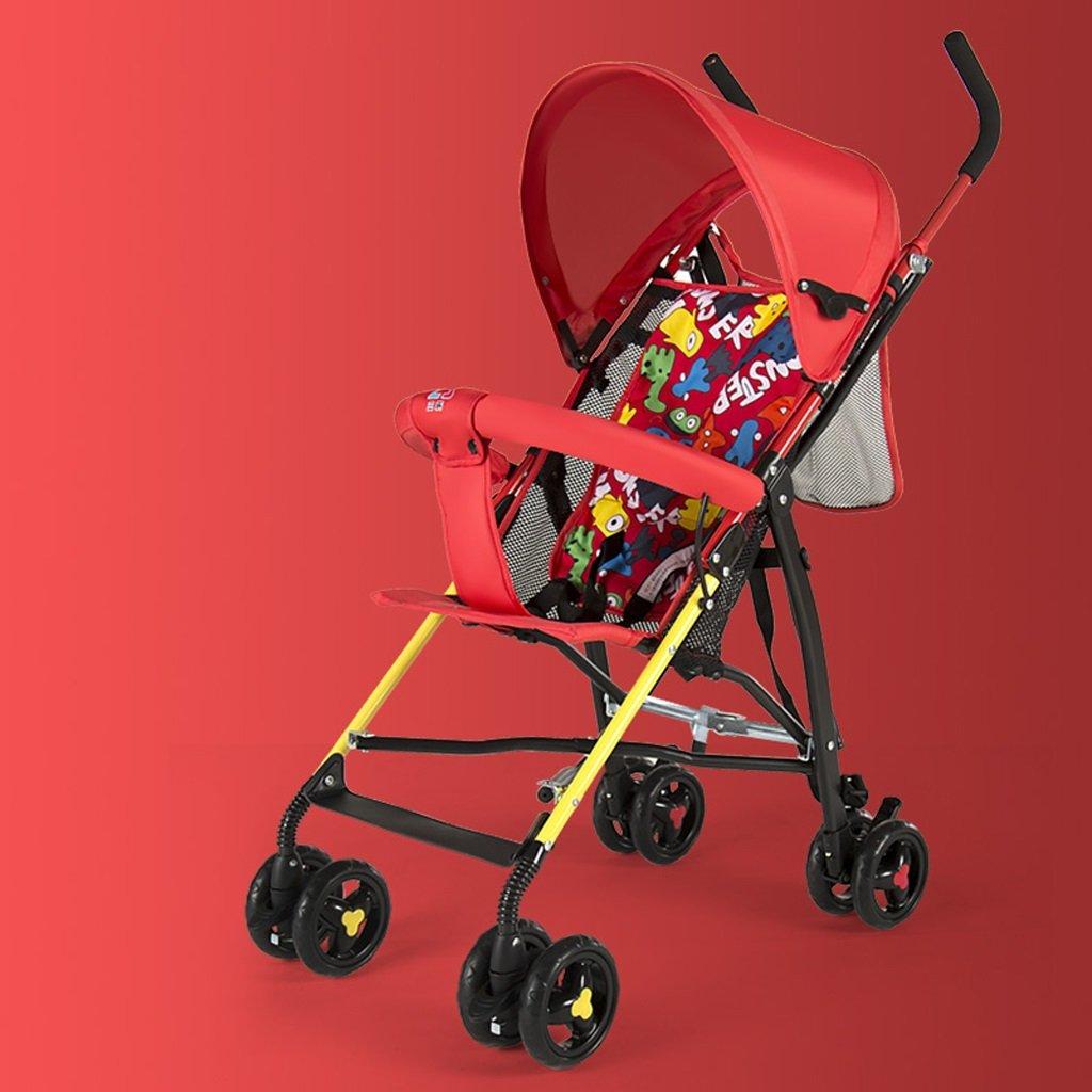ベビーベビーカー軽量ポータブルミニキッズベビーカー(ブルー)(赤)630 * 450 * 980ミリメートル ( Color : Red ) B07BTKQDD8