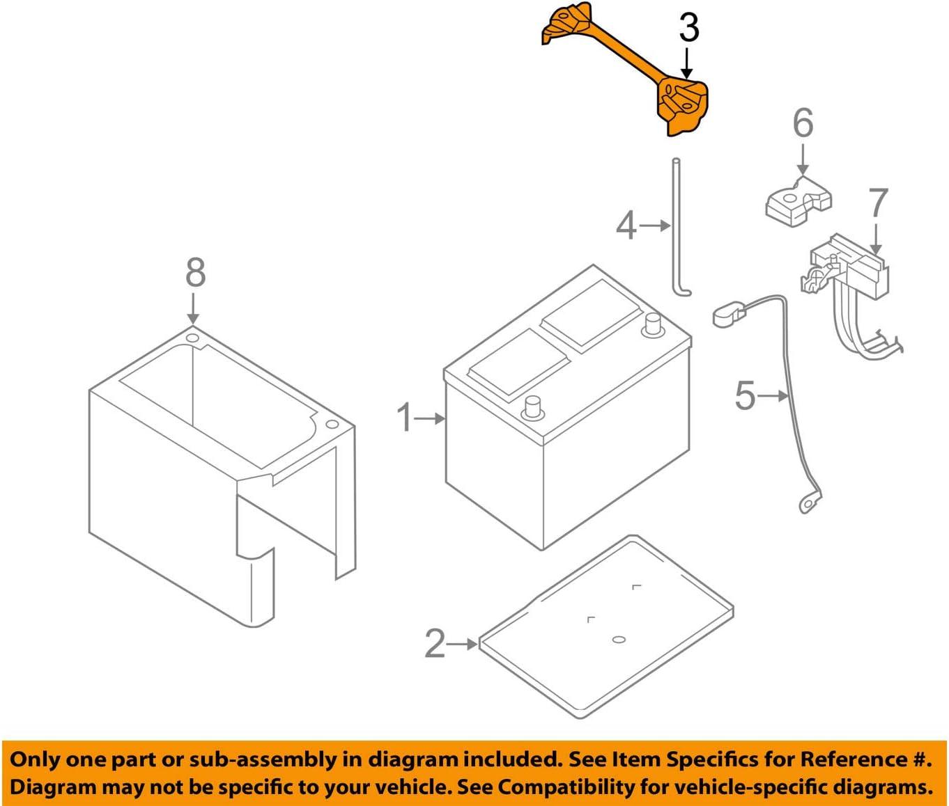amazon.com: genuine nissan parts - battery frame (24427-zx60a), regular:  automotive  amazon.com
