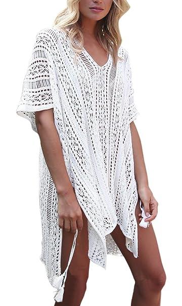 Hikong Copricostume Mare Donna Costume Da Bagno A Maglia Maglietta