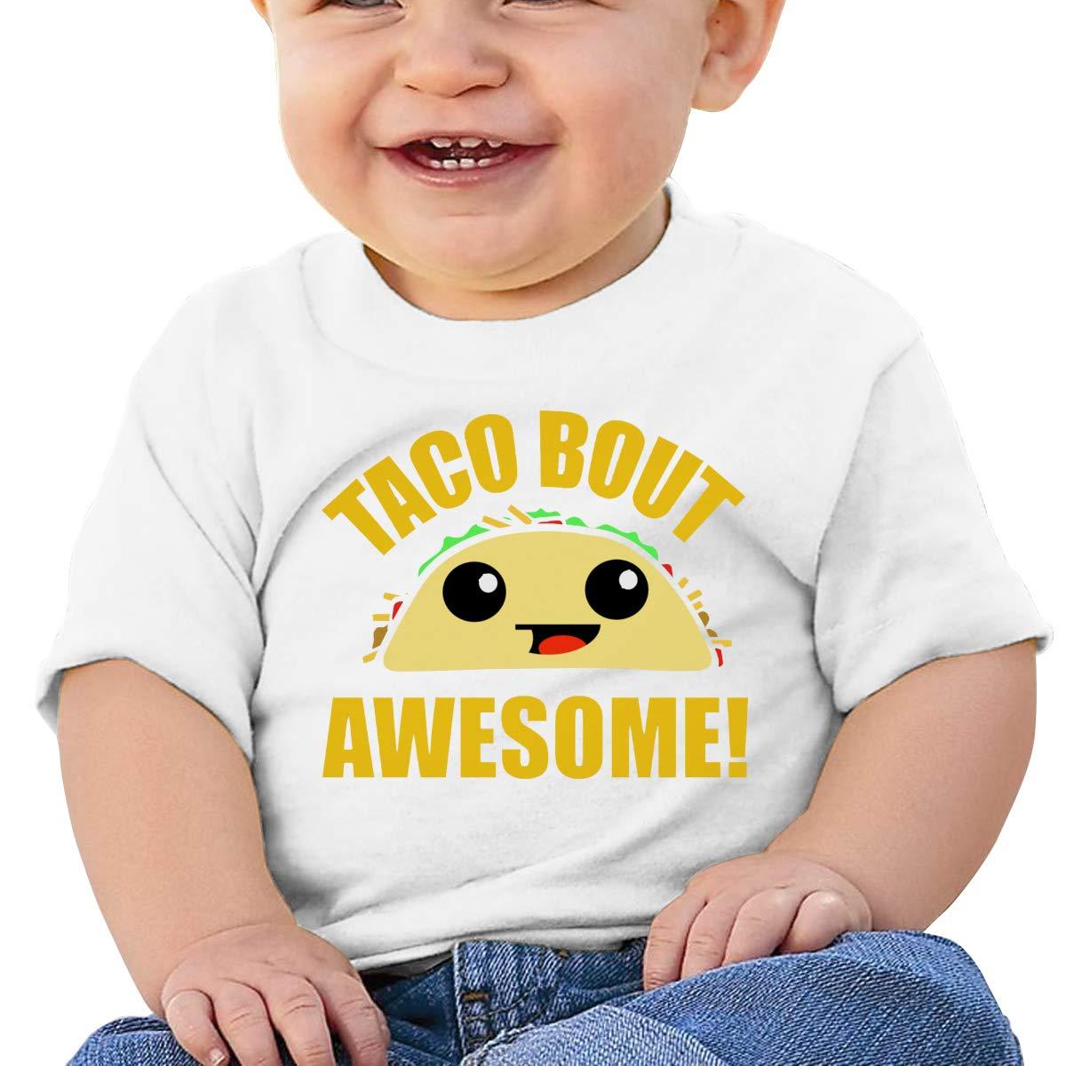SakanpoTaco Bout Awesome Toddler//Infant Short Sleeve Cotton T Shirts White