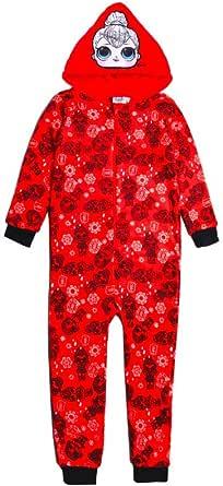 Cerdá L O L Surprise! Pijama Entero para Niñas, Pijama De Una Pieza, Forro Polar Suave Y Acogedor, Pijama Mono Onesie Infantil, Diseño con Capucha 3D, Disfraz, Regalo para Niñas!