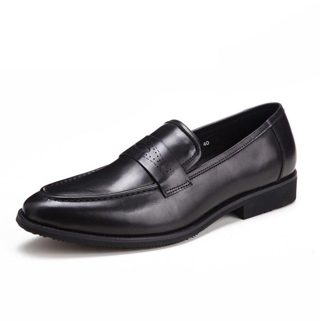 HHY-Trajes de negocios coreanos de cuero de moda los zapatos de los hombres zapatos de cuero.,negro,41 41|black black