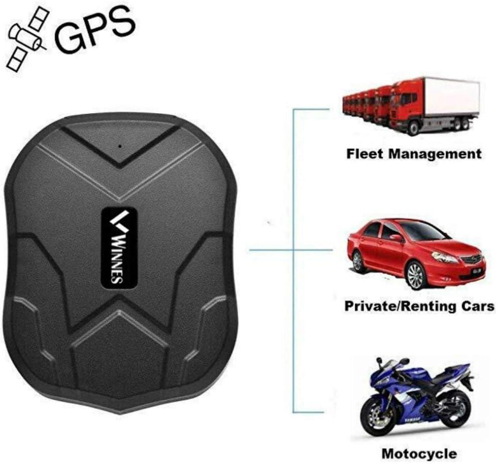 Winnes GPS Tracker, localizador GPS con imán Potente 3 meses reserva tiempo real GPS / GPRS / GSM Tracker Antirrobo para vehículos Autos Motocicleta