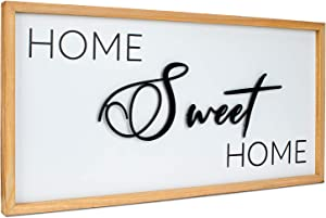 Jade Luxe Home Sweet Home Sign | 3D Metal Cutout Only Sweet Text | Home Sign | Home Sweet Home | Rustic Home Decor | Home Sweet Home Signs Wall Decor | US Brand