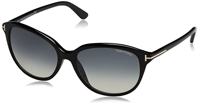 Tom Ford 0329/s 01B Black Karmen Round Sunglasses Lens Category 2 Size 57mm