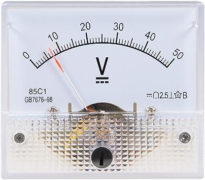 uxcell 85C1-V Rectangle Dial Panel Mount Voltmeter Gauge DC 0-200V
