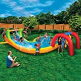 Splash Zone Water Park (Inflatable Slide with Oversized Splash Pool and Aqua Blaster Cannons)