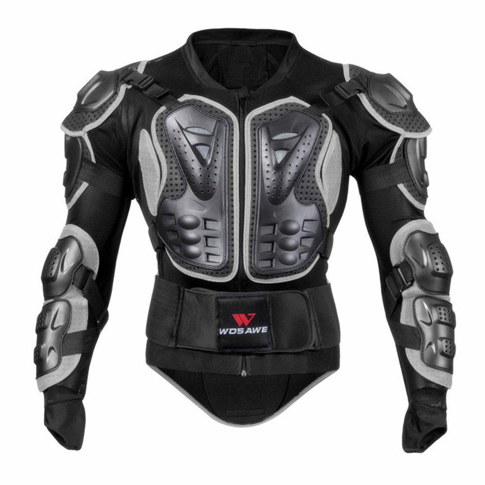 Per Chaqueta de Armadura Hombre para Motocross Esquí CS y Montar Bici Protector para Deportes al Aire Libre (Gris, M)