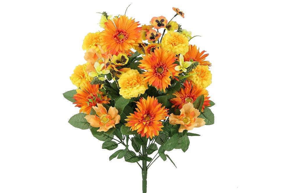 Admired By Nature 24 Stems人工Blooming Gerbera Daisy オレンジ GPB3316-OR MIX B073HBJ935 Orange Mix