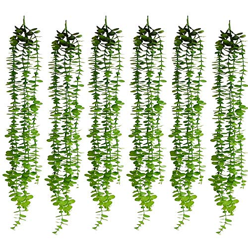 32inch/Pc Artificial Eucalyptus Garland Artificial Plants Eucalyptus Leaves Greenery Garland with Total 10 Stems Hanging Garland for Wedding Party Home Garden Wall Decoration ()