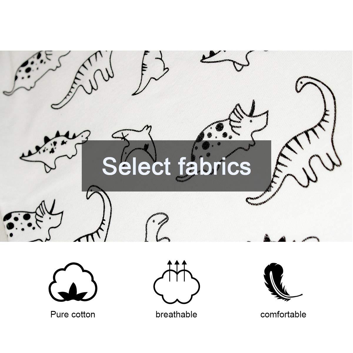 HCLKSTORE Gar/çon Ensemble de T-Shirt et Short 2-7 Ans Dinosaures Manche Courte pour Enfant V/êtements Pyjama pour Gar/çon