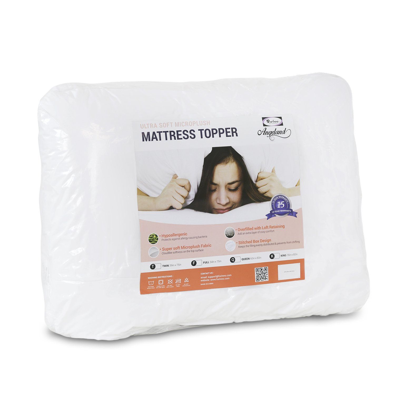 Amazon Furinno Angeland Ultra Soft Microplush Mattress Topper