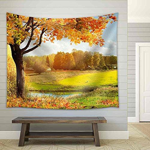 Autumn Landscape Fabric Wall