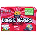 Disposable Dog Female Diapers | 20 Premium Quality Adjustable Pet Wraps with Moisture Control & Wetness Indicator | 20 Count