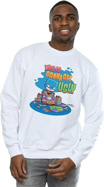 DC Comics Hombre Super Friends Batman Joker Christmas Jumper Camisa De Entrenamiento: Amazon.es: Ropa y accesorios