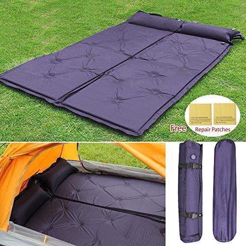 Topeakmart Comfortable Double Self-Inflating Air Sleeping Pad Camping and Backpacking Self Inflating Mattress Air Mattress