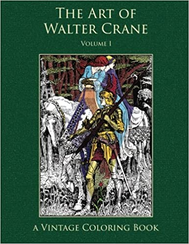 the art of walter crane vintage coloring book volume 1
