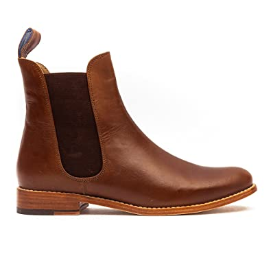 ad2ae4605629 Joules Belgravia Brown Leather Ankle Chelsea Boots (UK 7)  Amazon.co.uk   Shoes   Bags