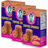 Goodie Girl Cookies Toffee Crunch Buttery Crispy Rice and Chocolate Chip Cookies, Peanut Free and Gluten Free Delicious Snack Cookies (6oz Box, Pack of 3)