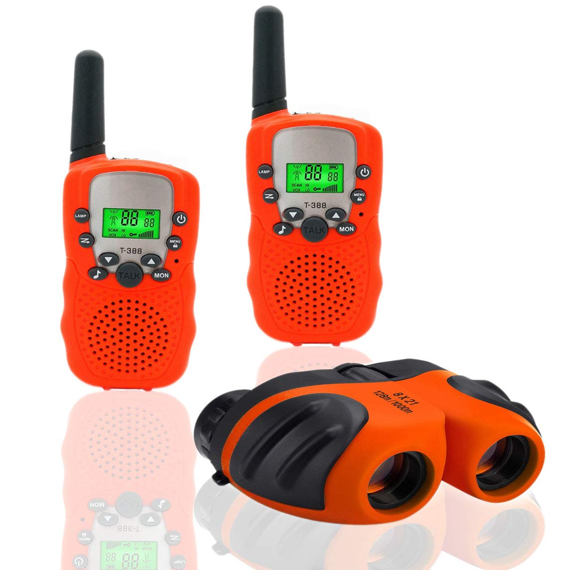 Happy Gift Toys for 3-12 Year Old Girls, Walkie Talkies for Kids Toys for 3-12 Year Old Boys Mini BinocularsToys Gifts for Teen Boys Gifts for Teen Girls Birthday Gifts,1Set(Orange)