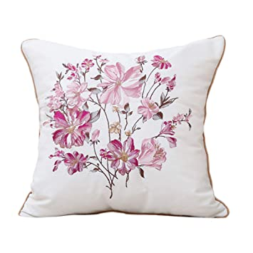 Amazon.com: Cojín Zhaoshunli cojín cuadrado algodón lindo ...