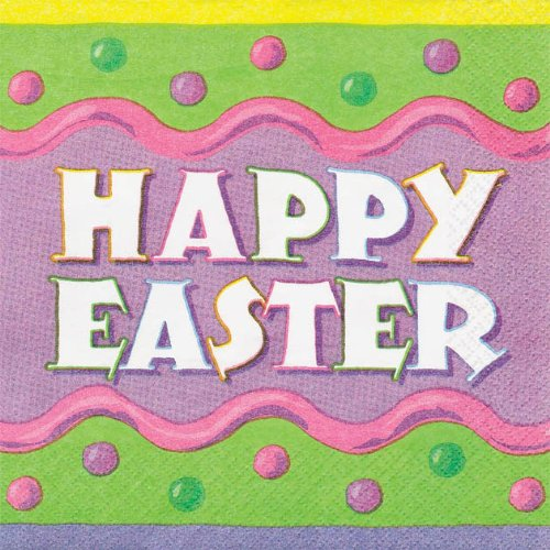Pack Of 16 Happy Easter Napkins B00HHG5ORE