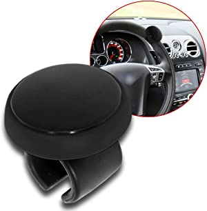 Zento Deals Black Silicone Steering Wheel Spinner- ABS Material for Comfortable Grip-Safe Handle and Convenient Driving Steering Wheel Knob Quality