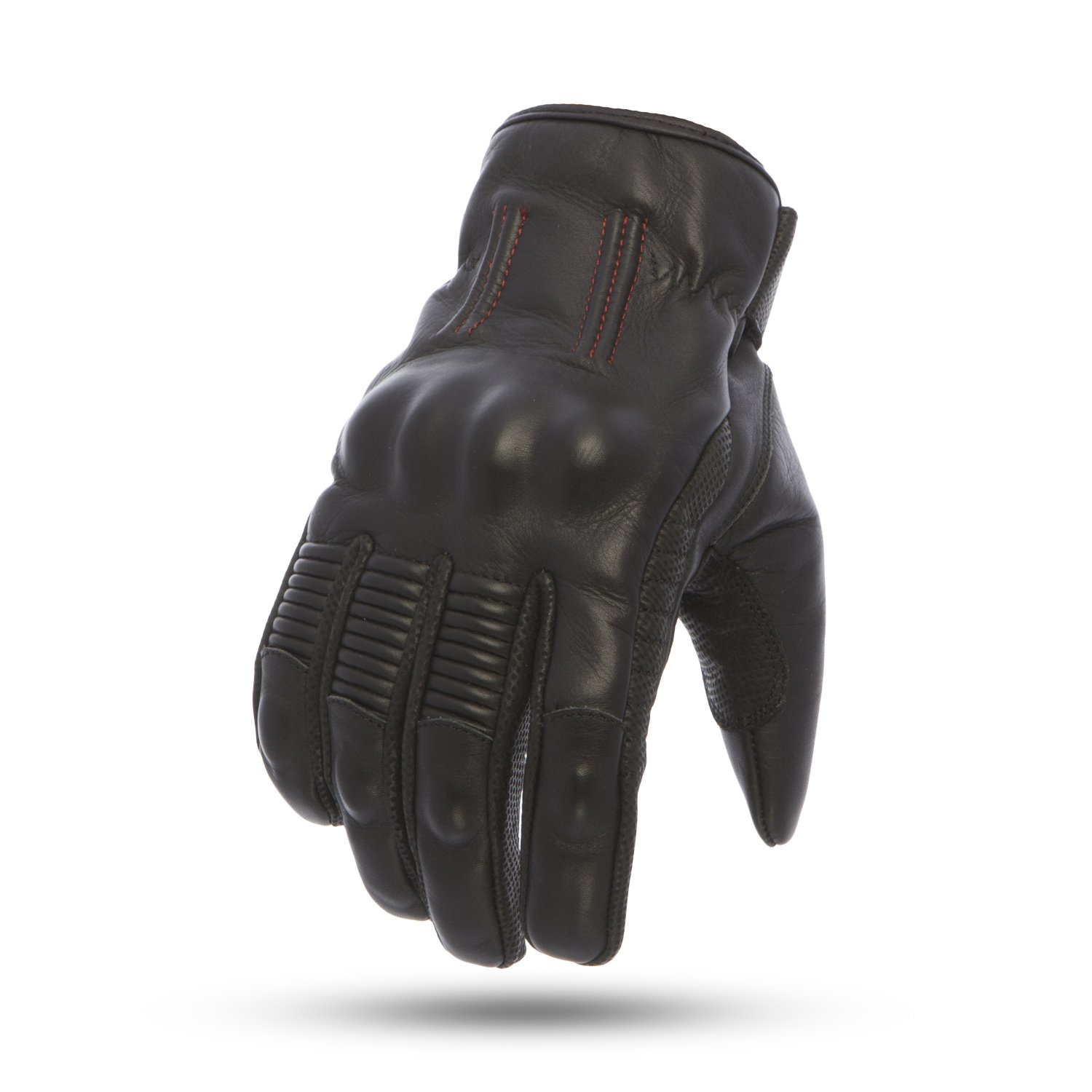 First Mfg Co Mens Laguna Leather Motorcycle Gloves Black XL