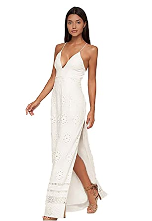 8cef7f6a6f1 The Jetset Diaries Adriatic Maxi Dress in Ivory (Large) at Amazon ...