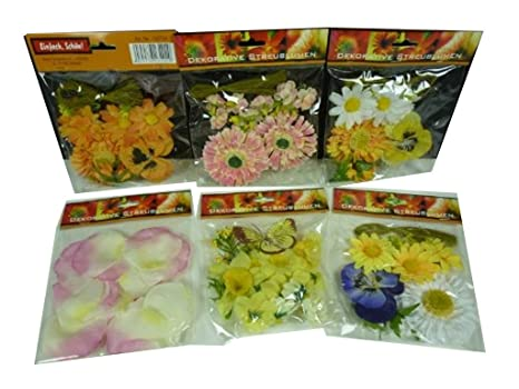 32029, 10 bolsas decorativas flores hermosas, lote de flores ...