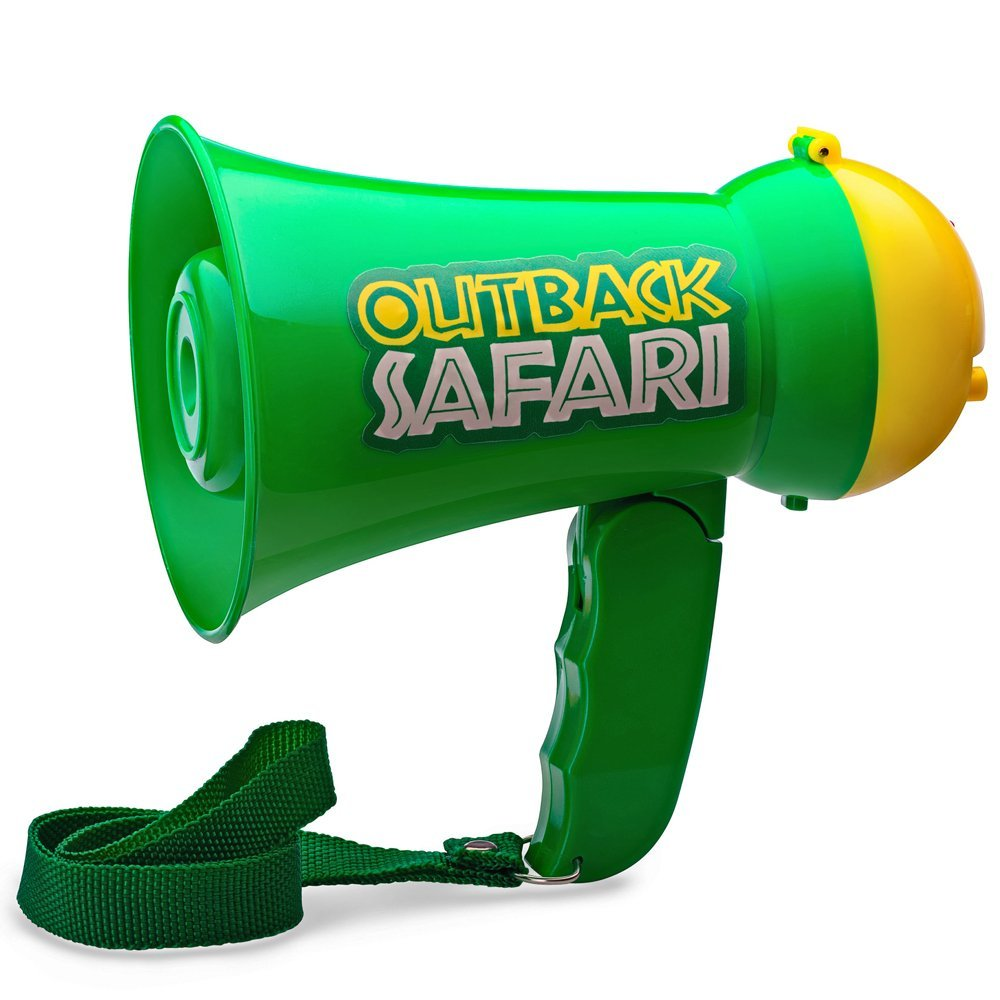 Handheld Mic Toy 944 Dress Up America Pretend Play Kids Safari Outback Megaphone with Siren Sound