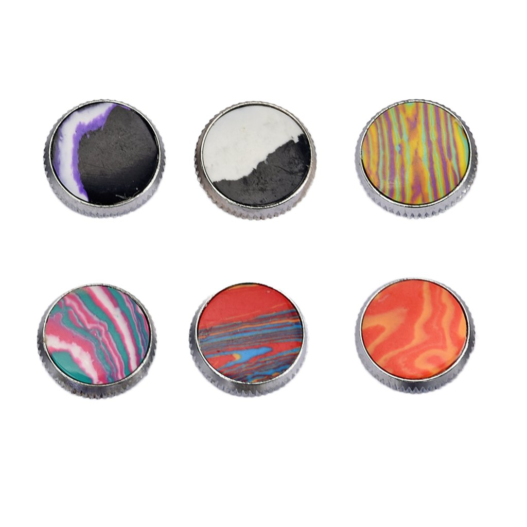 MagiDeal Durable 6 PiecesTrumpet Key Buttons Musical Instrument Parts for Trumpet Lovers 0.63x0.33x0.19inch