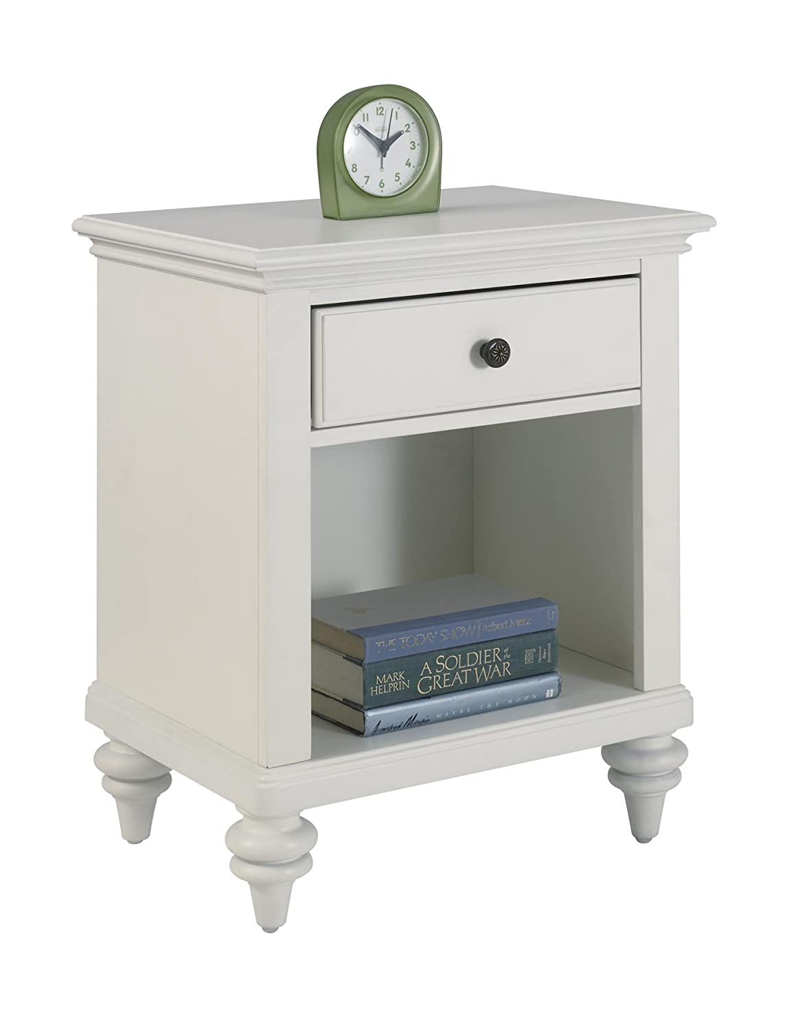 Home Styles Bermuda Night Stand, White Finish