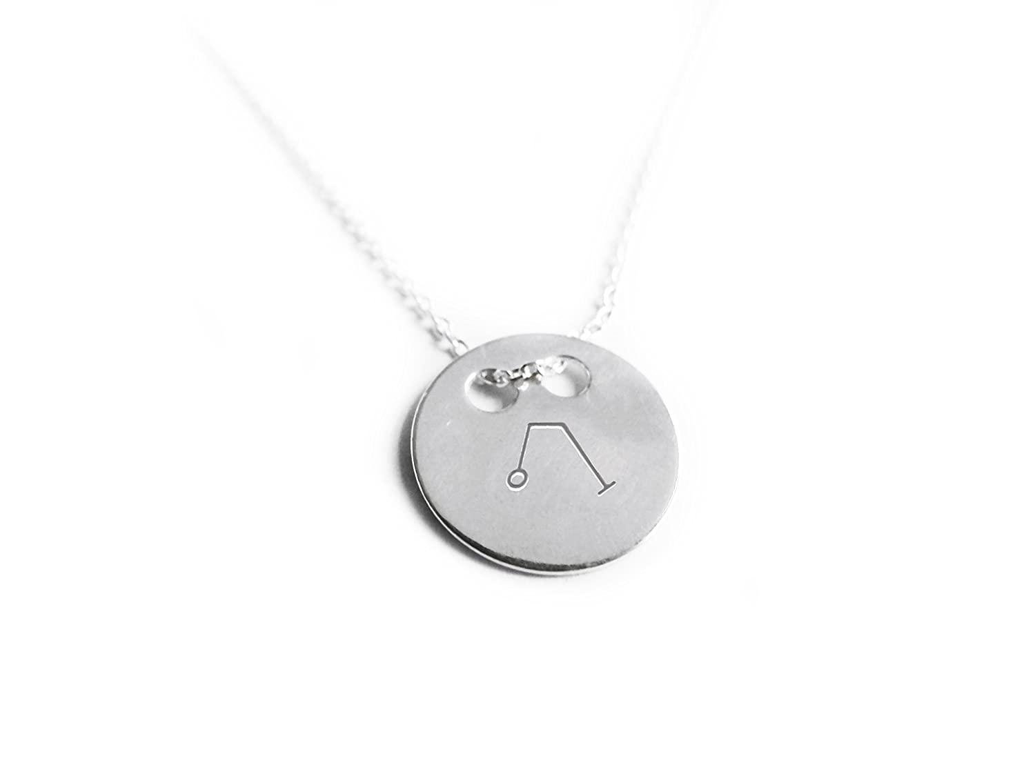 Angel Raphael Necklace- Archangel Of Healing Love And Joy, Round Pendant 55cm Silver chain 3 wind knots ang_r_r_55