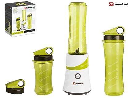 SQ PRO Smoothie Maker Frothy Shake batidora trituradora hielo 300 W con 3 XTravel botellas y