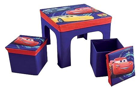 Fun house cars tavolo con sgabelli portaoggetti