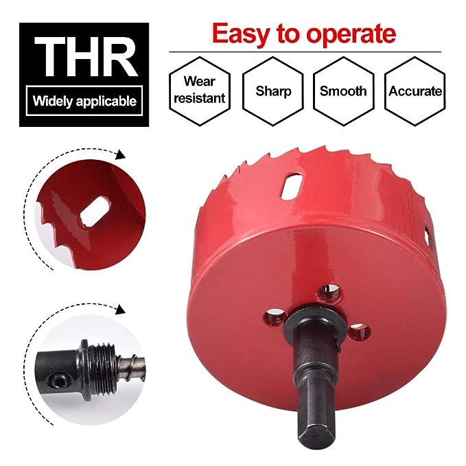 para aluminio rojo metal y madera pl/ástico acero inoxidable Abridor de agujeros M42 de 15 a 200 mm para taladro de sierra de perforaci/ón tuber/ía SENRISE