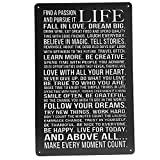 Life Poem Tin Sign Vintage Wall Decor Thanksgiving Day Christmas Gift Descritpion: This life poem tin sign vintage decorative painting is manufactured with folded edges for safety and stability.It is suitable for many places,such as bar,cafe,...