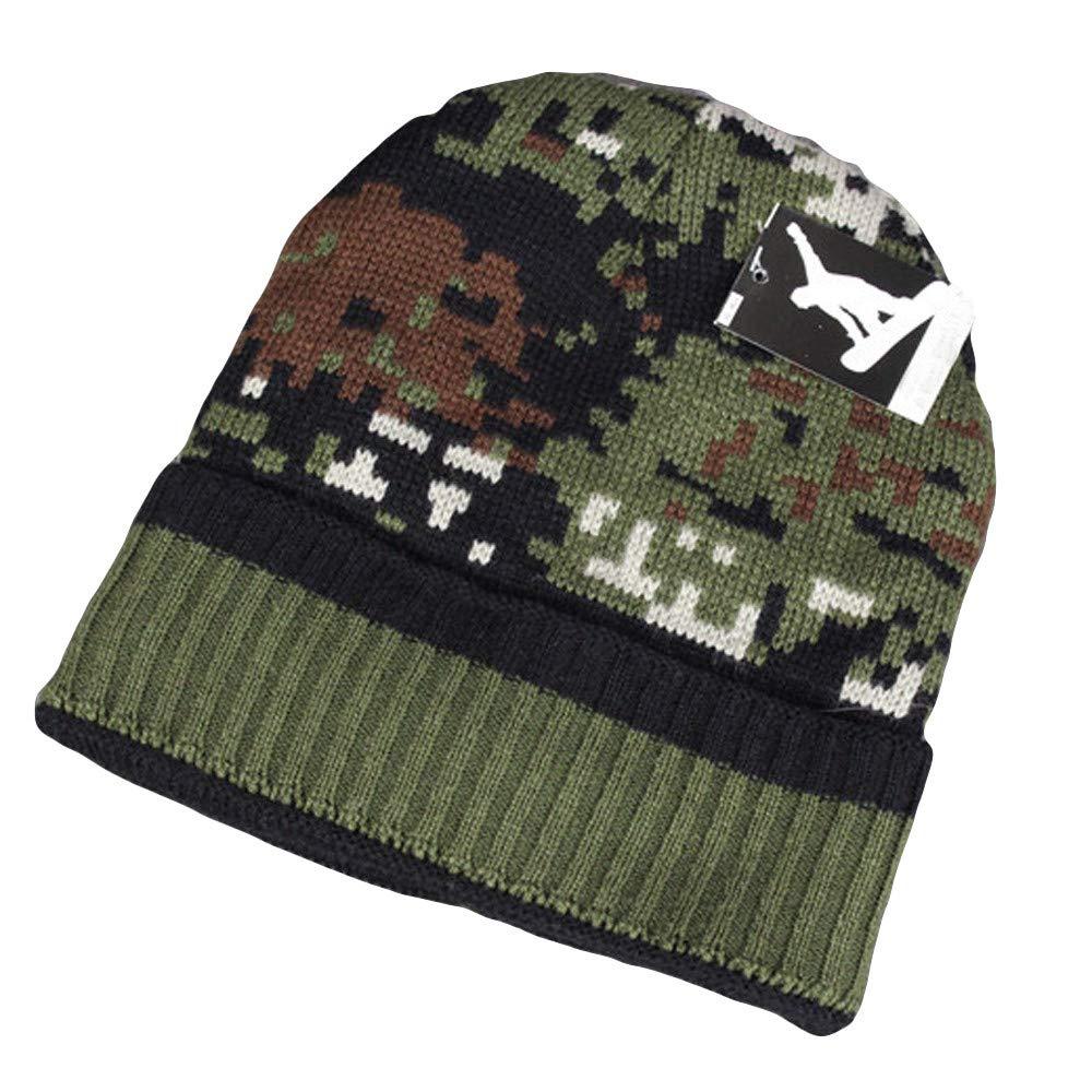 ALIKEEY Mujeres Sombrero Cálido Oído Mosaico Patrón Crochet Invierno Tejer Gorras Verde Transparente Sombrero Sol para NiñOs Solo L Soldador Al Aire Libre: ...