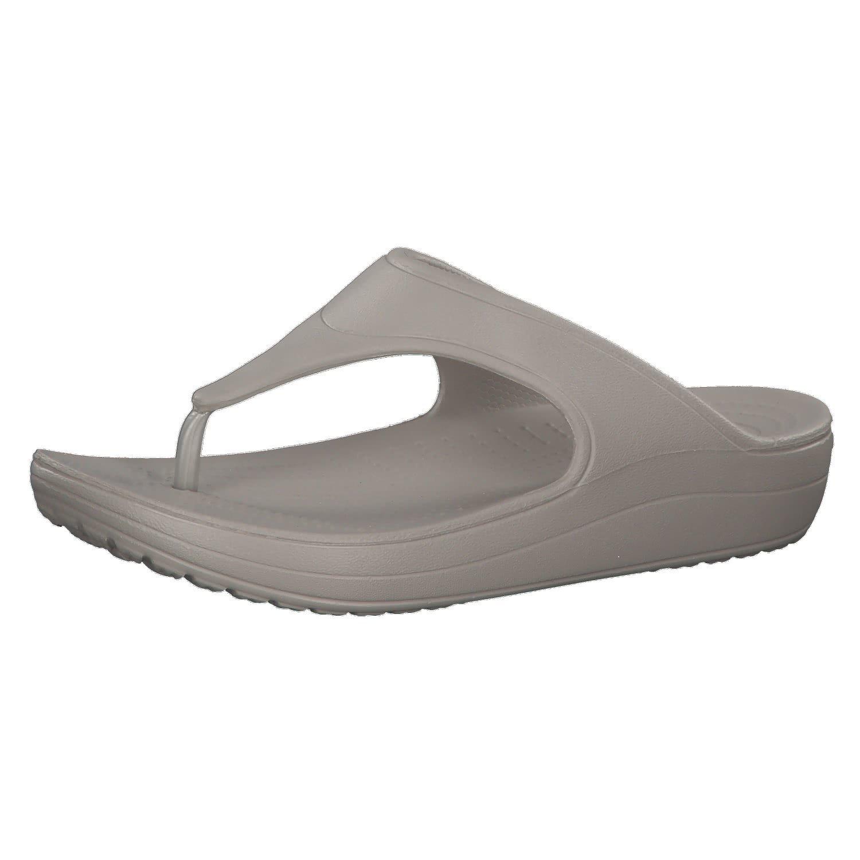 Crocs WN-Platform WN-Platform Flip, Sandales Bout Ouvert Sandales Femme, Gris (Platinum) Argent Argent 71145d2 - digitalweb.space