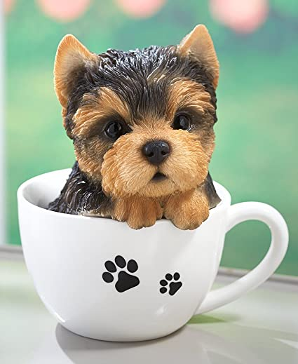 Amazoncom The Lakeside Collection Teacup Pups Yorkie Home Kitchen