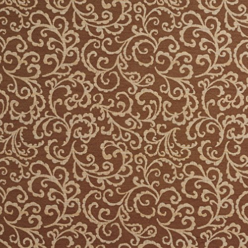 410BX Brown and Cream Trellis Upholstery Fabric By The (Trellis Fabric)
