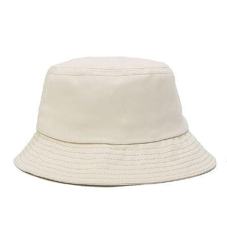 Hosaire 1 Pcs Sun Hat 100% Cotton Adults Bucket Hat Summer Fishing Fisher  Beach Festival Sun Cap (Beige)  Amazon.co.uk  Kitchen   Home 50172322f501