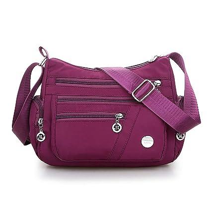 be33a4c824df Amazon.com: SimpleLif Women's Nylon Casual Shoulder Bag Crossbody ...