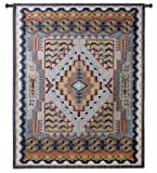 FineArtTapestries 2933-WH Southwest Turquoise Small Wall Tapestry