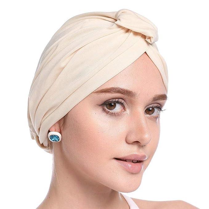 Elodiey Turban Ladies Pérdida Del Cabello Cáncer Cap Conjunto Años 20 De Sombreros De Quimioterapia Bandanas