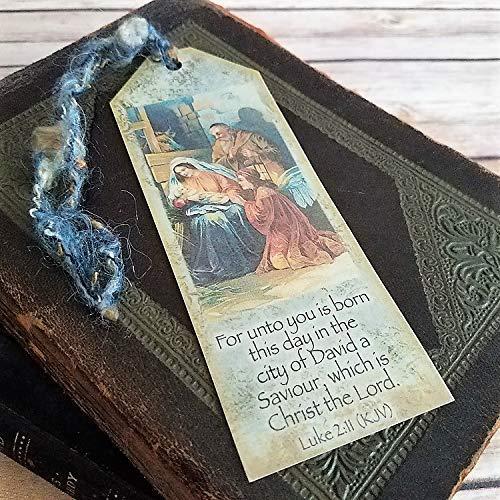 (Christmas Nativity Vintage Style Bookmark)